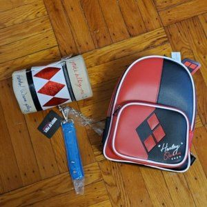 Loungefly Harley Quinn Backpack & Mallet Purse